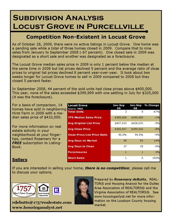 Subdivision Analysis 2009 11 02
